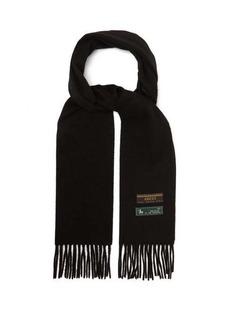 Gucci Logo-tag wool scarf