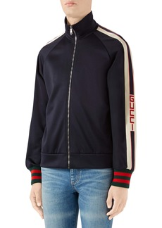 Gucci Logo Tape Technical Jersey Track Jacket
