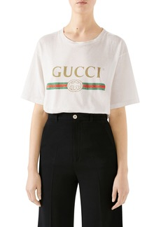 Gucci Logo Oversize Cotton Graphic Tee