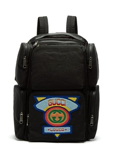 Gucci Loved logo-appliqué shell backpack