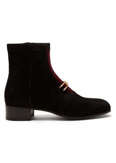 22a6217f09b Gucci Lubbock GG-Horsebit suede boots