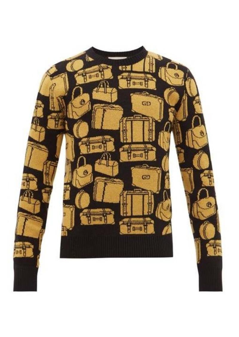 Gucci Luggage-jacquard wool sweater