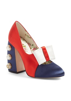 Gucci Luna Block Heel Pump (Women)
