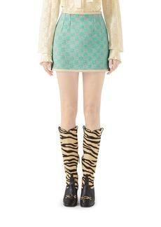 Gucci Macro GG Tweed Skirt