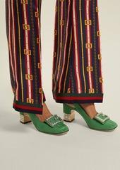 714d23562d Gucci Gucci Madelyn crystal-embellished moiré slingback pumps | Shoes