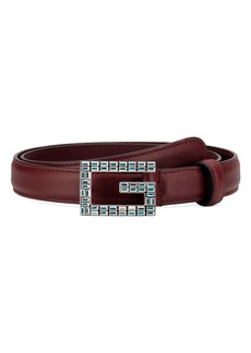 Gucci Madelyn Crystal Logo Buckle Leather Belt