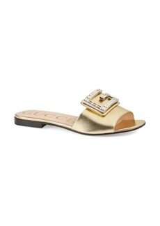 Gucci Madelyn Jewel Slide Sandal (Women)