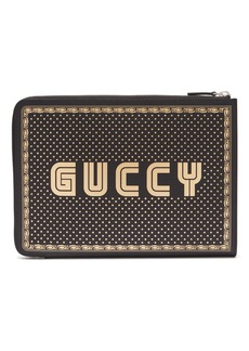 Gucci Magnetismo-print leather pouch