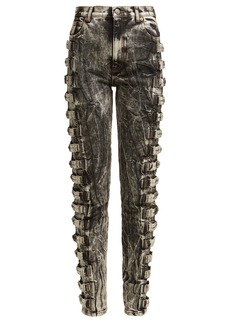 Gucci Marble-wash cotton skinny jeans