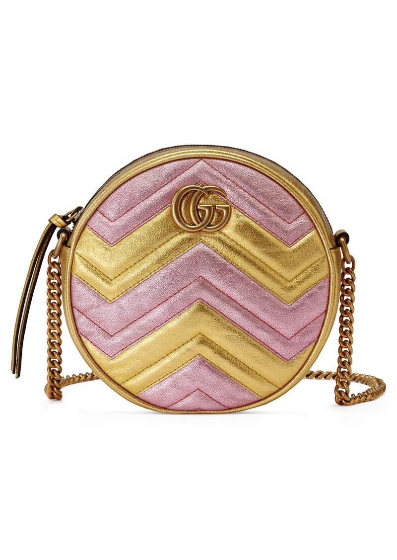 e50510e6e Gucci Gucci Marmont 2.0 Mini Leather Circle Crossbody Bag | Handbags