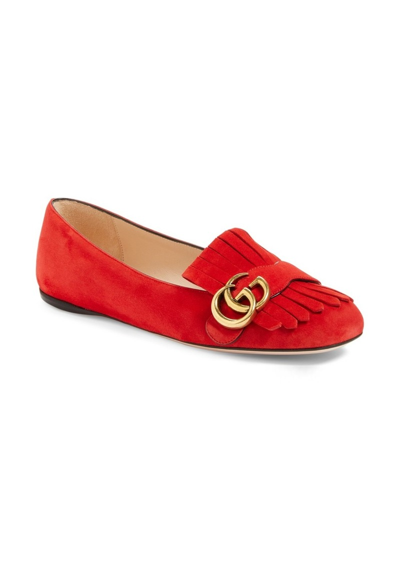 Gucci Gucci Gg Marmont Fringe Flat Women Shoes Shop