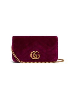 Gucci Marmont GG velvet mini cross-body bag