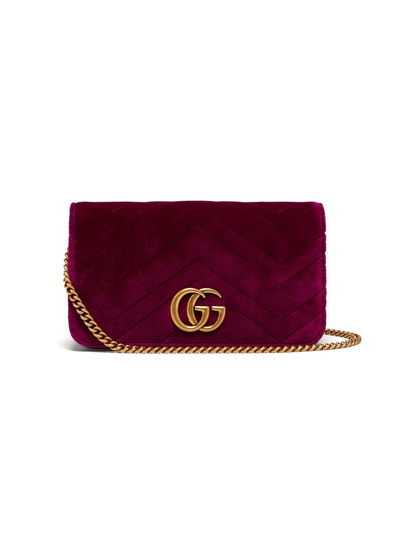 125e5629a2a4e0 Gucci Gucci Marmont GG velvet mini cross-body bag | Handbags