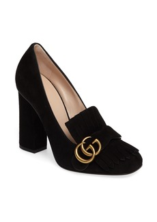 Gucci Marmont Kiltie Loafer Pump (Women)