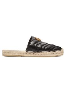 Gucci Marmont matelassé-leather espadrilles