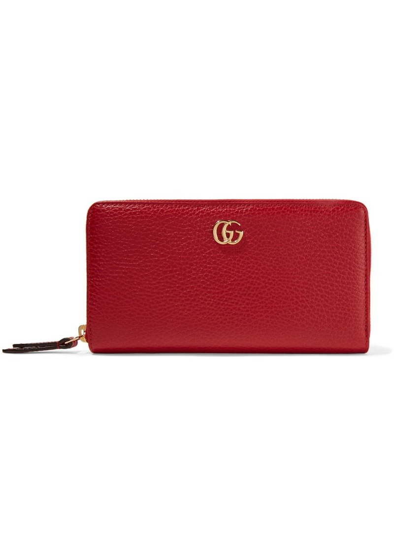 e24f7e9c9a0e Gucci Gucci Marmont Petite textured-leather wallet | Handbags