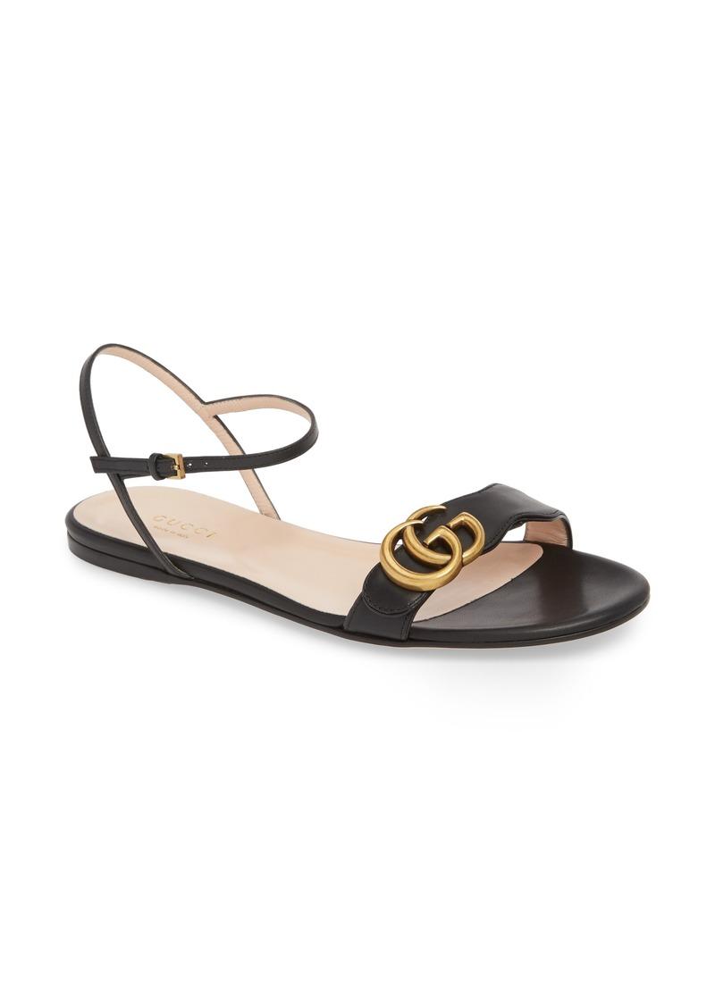 fca628927451 Gucci Gucci Marmont Quarter Strap Flat Sandal (Women)