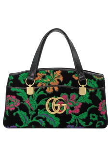 Gucci Medium Arli Floral Chenille Jacquard Top Handle Bag