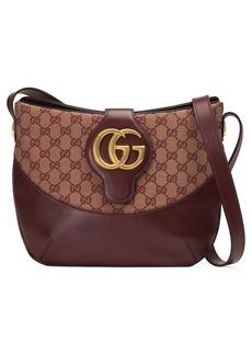 Gucci Medium Arli GG Canvas & Leather Shoulder Bag