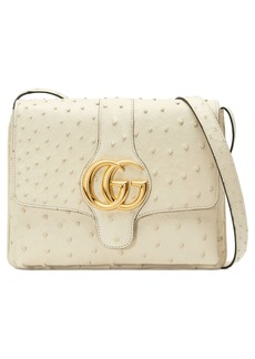 Gucci Medium Arli Ostrich Crossbody Bag