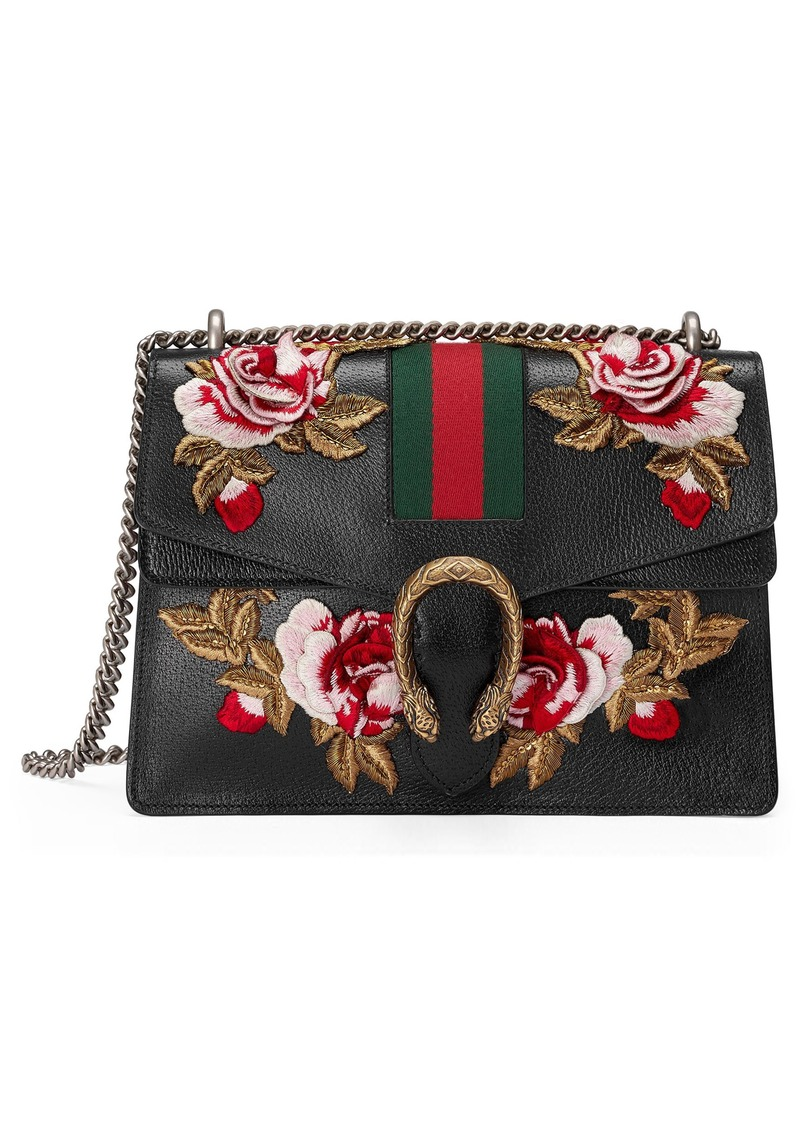 6241f248ac9c Gucci Gucci Medium Dionysus Embroidered Roses Leather Shoulder Bag ...