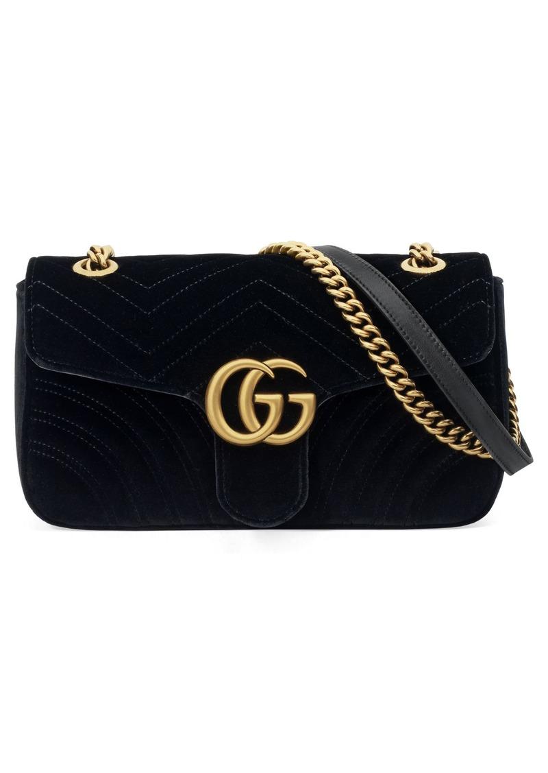 eee77cfed14d Gucci Gucci Medium GG Marmont 2.0 Matelassé Velvet Shoulder Bag ...