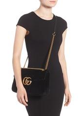 0a56bf9392 Gucci Gucci Medium GG Marmont 2.0 Matelassé Velvet Shoulder Bag ...