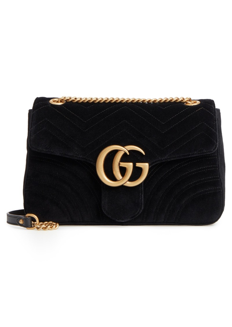 dd5edd8ec Gucci Gucci Medium GG Marmont 2.0 Matelassé Velvet Shoulder Bag ...