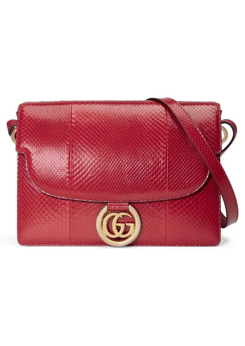Gucci Medium GG Ring Genuine Snakeskin Shoulder Bag