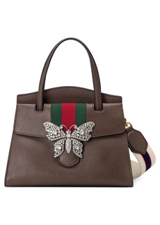 Gucci Medium Linea Leather Satchel