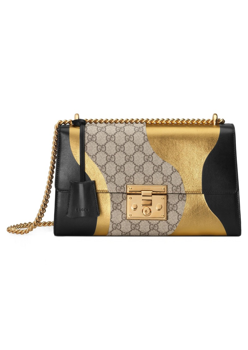 7f717890e9be51 Gucci Gucci Medium Padlock GG Supreme Canvas & Leather Shoulder Bag ...