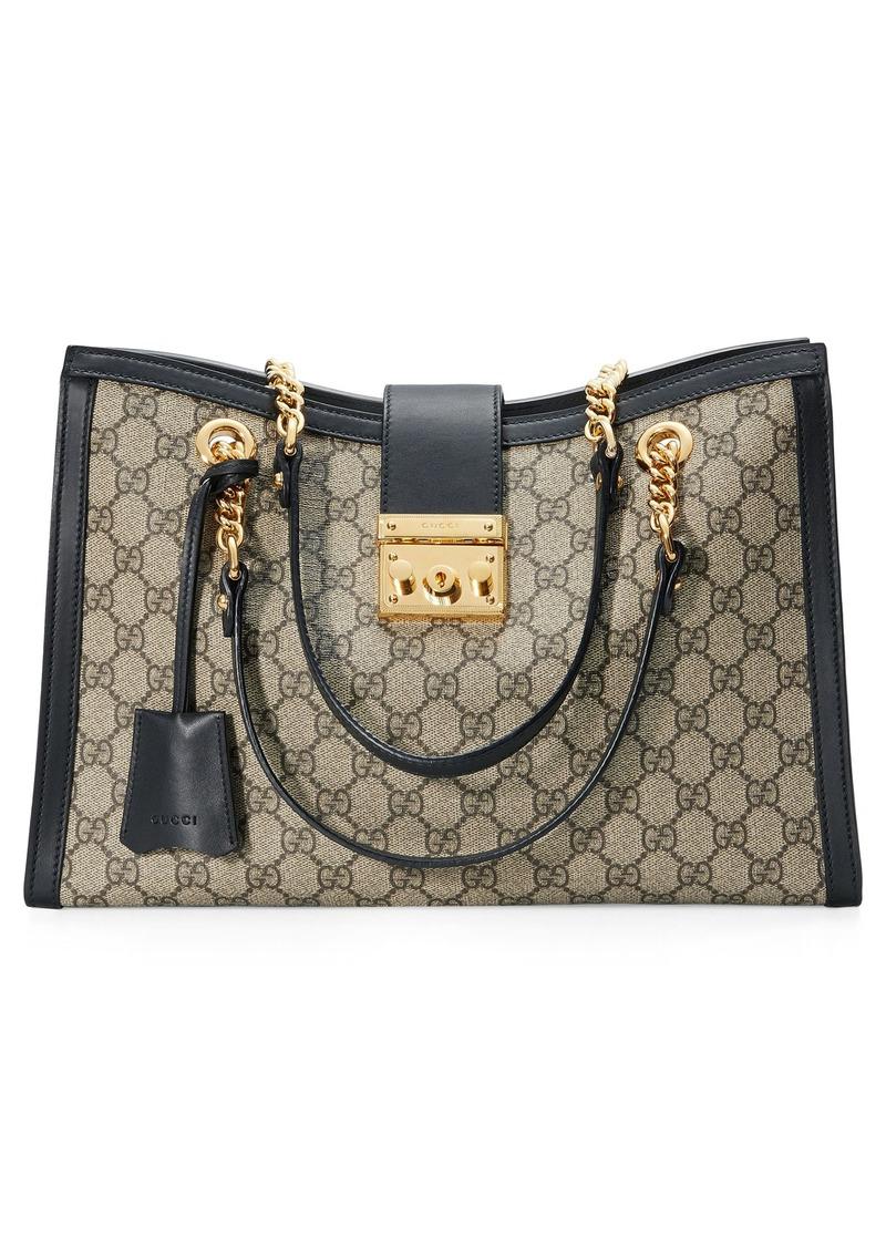 323f0cc04c3e Gucci Gucci Medium Padlock GG Supreme Canvas Tote | Handbags