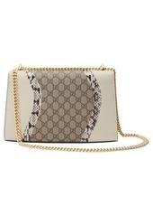 0d691aa76 ... Gucci Medium Padlock GG Supreme Wave Shoulder Bag with Genuine  Snakeskin Trim
