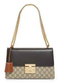 Gucci Medium Padlock Leather Shoulder Bag