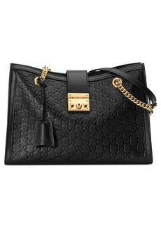 Gucci Medium Padlock Leather Tote