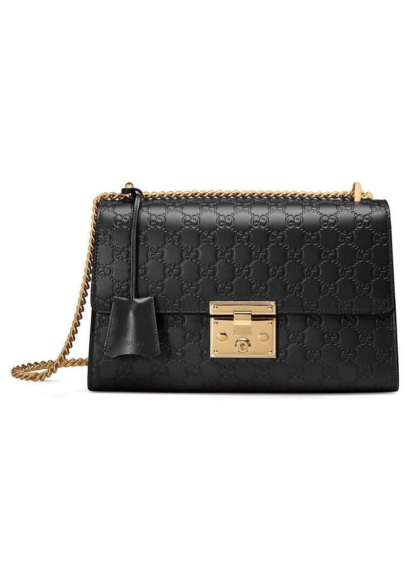 9238d389ada Gucci Gucci Medium Padlock Signature Leather Shoulder Bag   Handbags