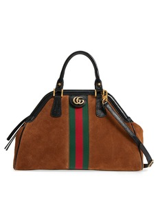 Gucci Medium RE(BELLE) Suede Satchel