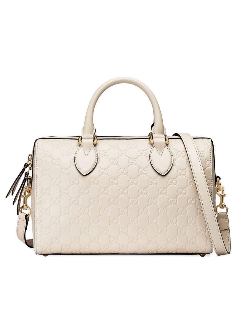 ed122e32751 Gucci Gucci Medium Signature Top Handle Leather Satchel
