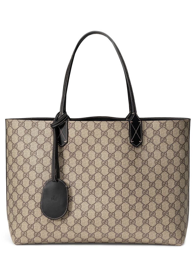 gucci gucci medium turnaround reversible leather tote handbags. Black Bedroom Furniture Sets. Home Design Ideas