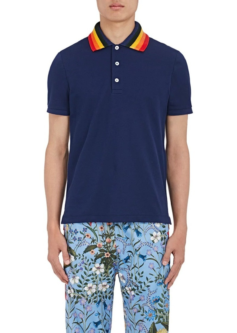 69ea8b98e30 SALE! Gucci Gucci Men s Appliquéd Cotton Polo Shirt