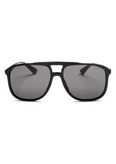 Gucci Men's Brow Bar Aviator Sunglasses, 58mm