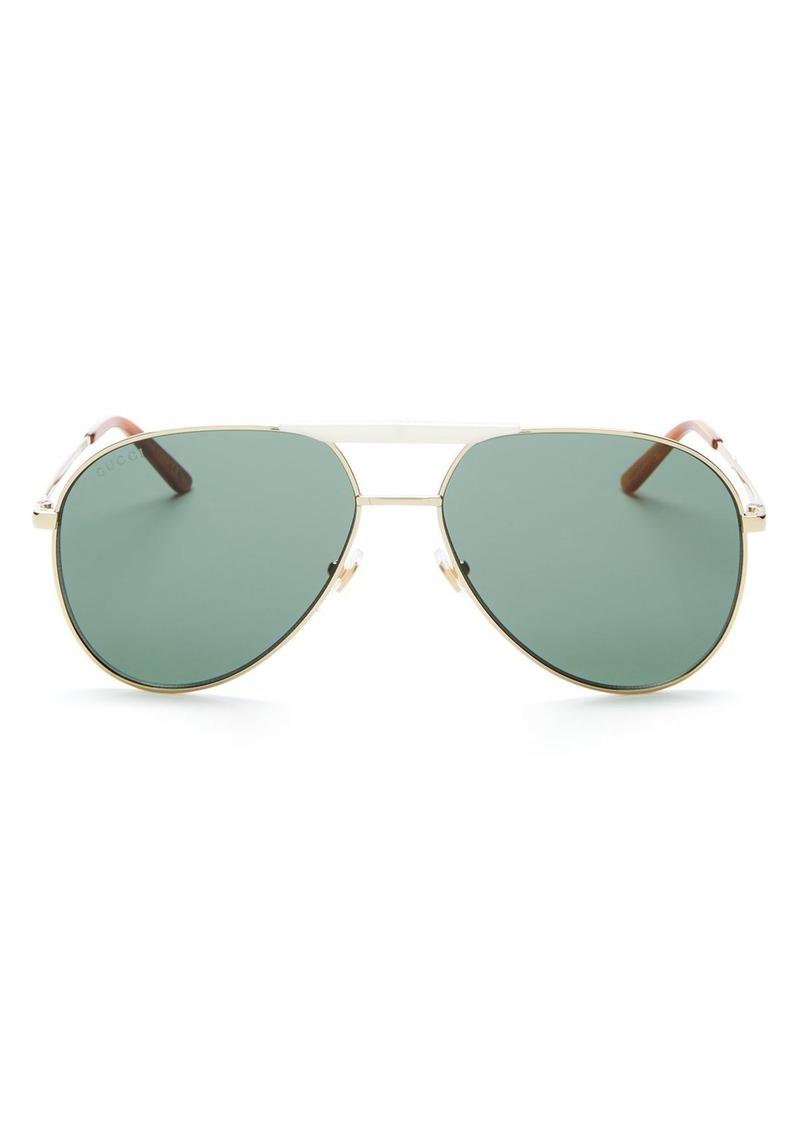 Gucci Men's Brow Bar Aviator Sunglasses, 59mm