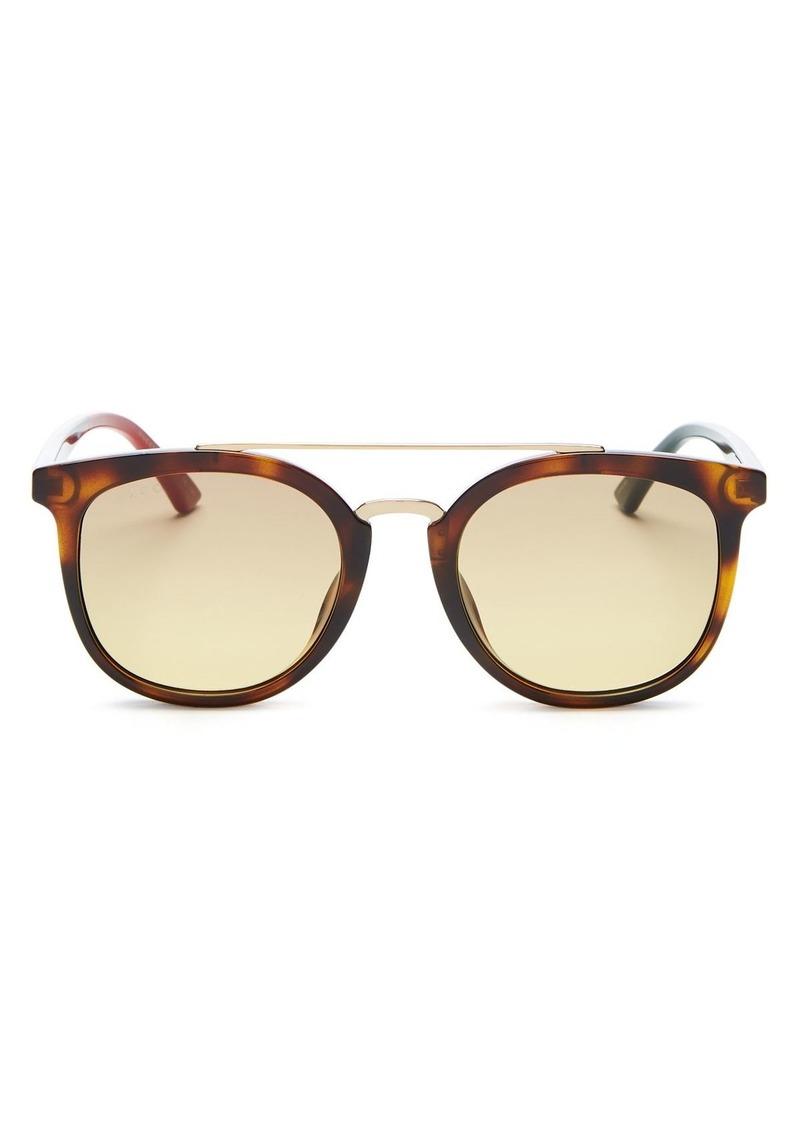 Gucci Men's Brow Bar Square Sunglasses, 52mm