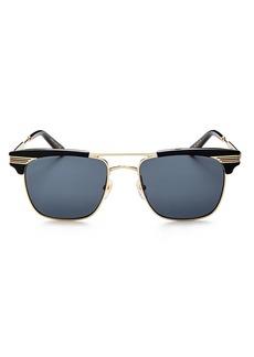 Gucci Men's Brow Bar Square Sunglasses, 55mm