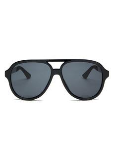 Gucci Men's Brow Bar Square Sunglasses, 59mm