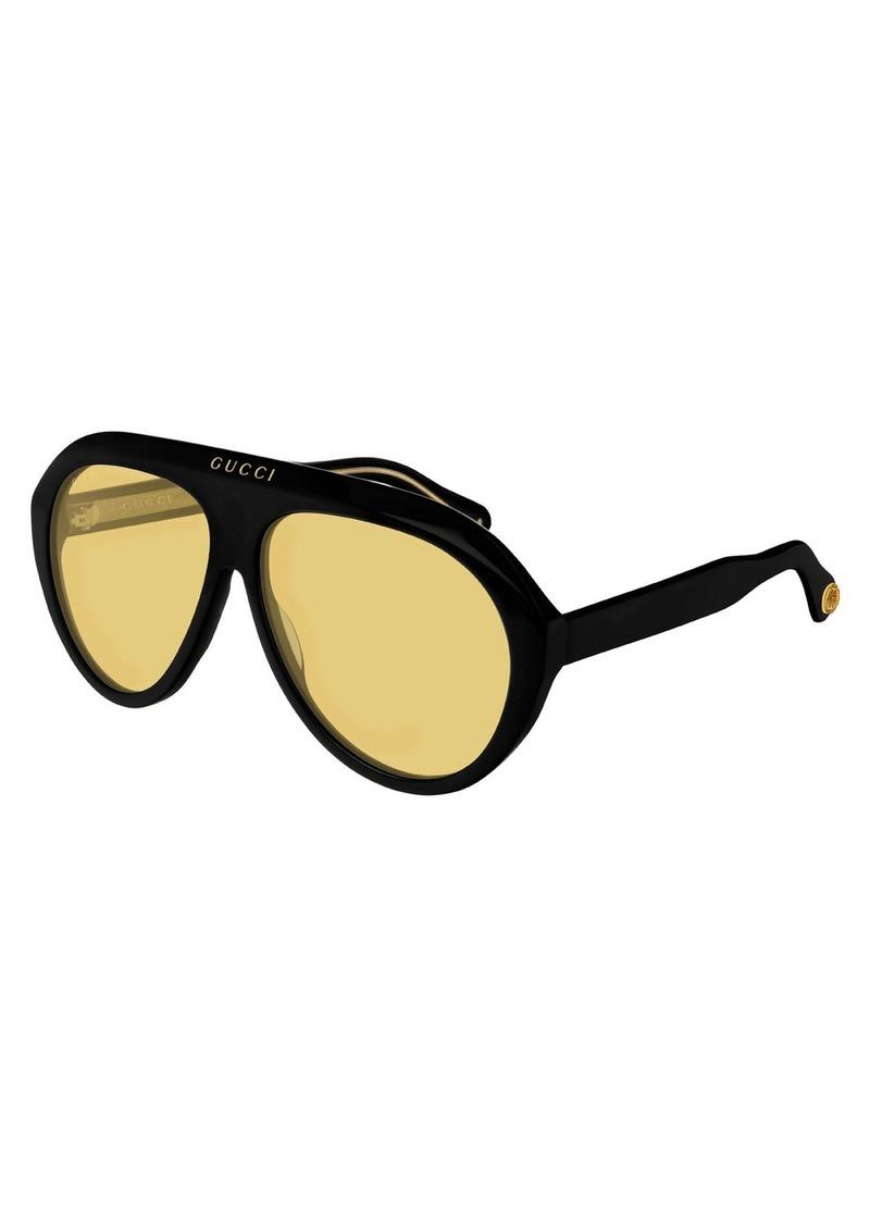 9ce43d4a62 Gucci Gucci Men s Curved Nylon Shield Sunglasses