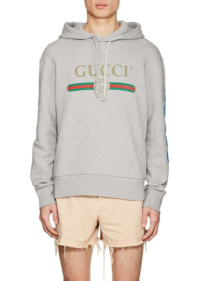 658c679b3 Gucci Gucci Men's Dragon-Embroidered Cotton French Terry Hoodie ...