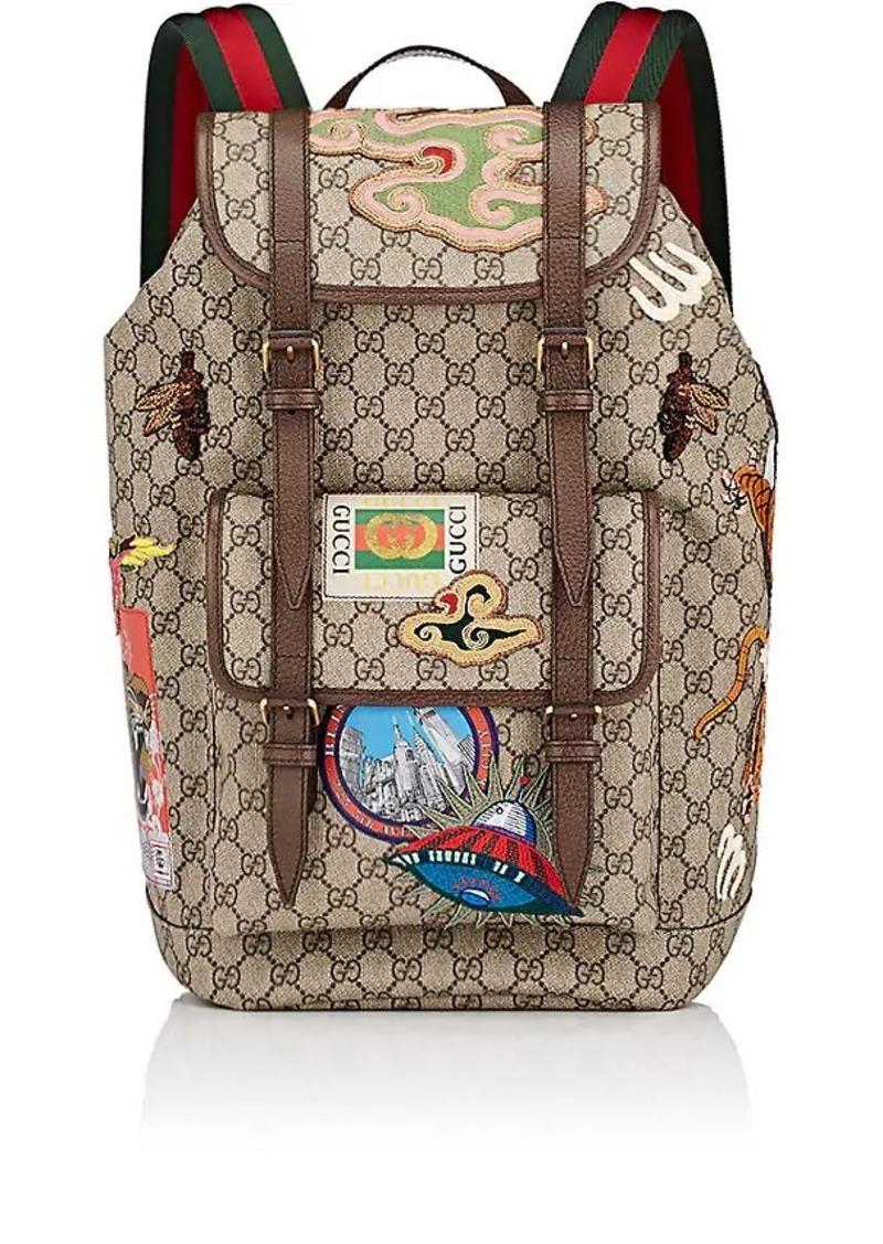 d4d5cff37649 Gucci Gucci Men's GG Supreme Appliquéd Backpack | Bags