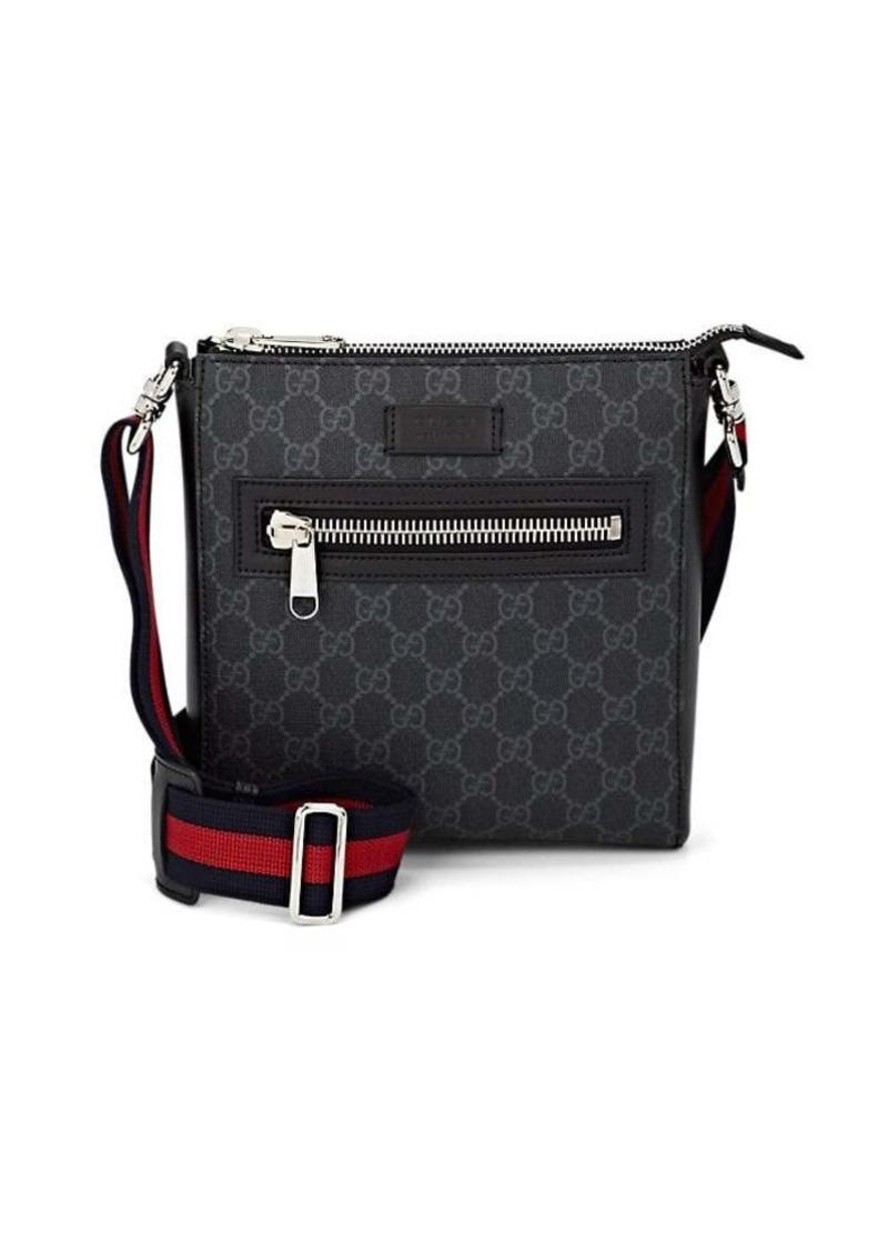 56b0f78d44872 Gucci Gucci Men s GG Supreme Leather-Trimmed Messenger Bag - Black ...