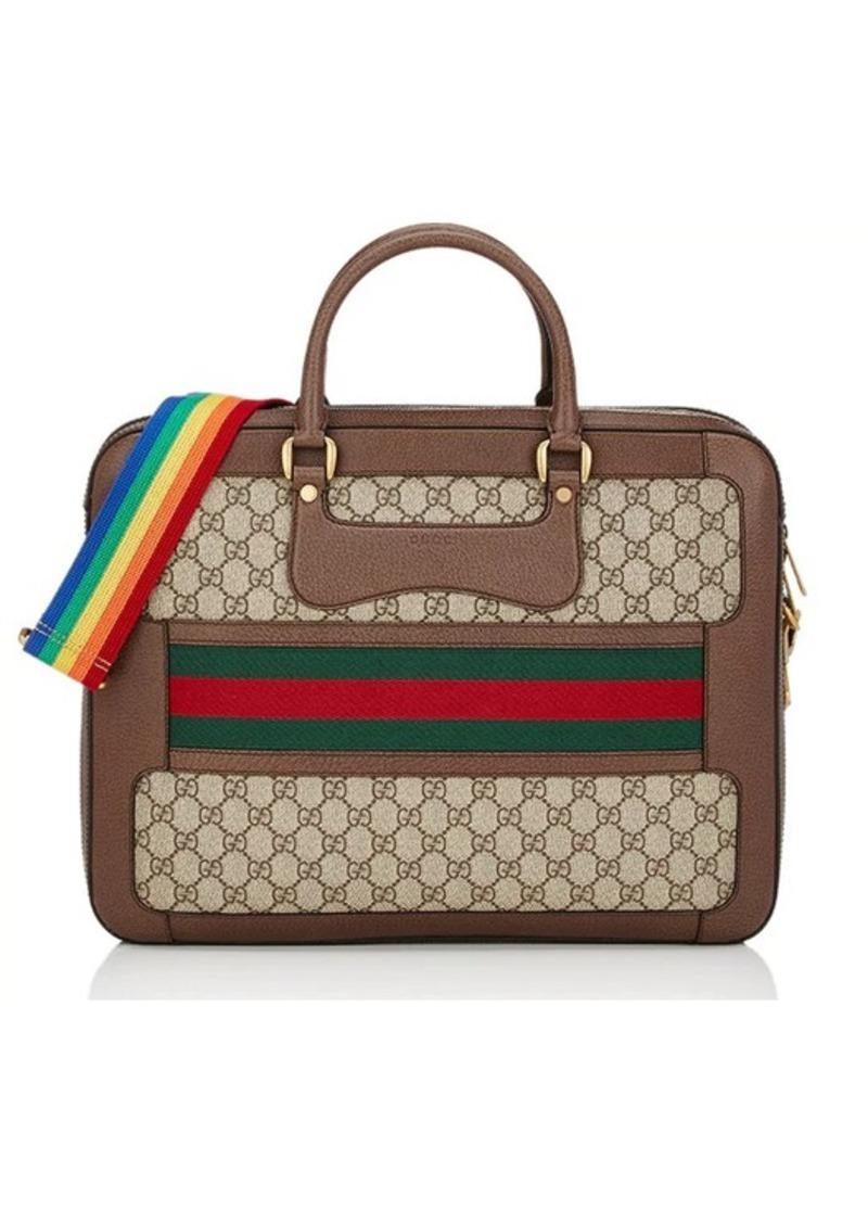 e54f588326c Gucci Gucci Men s GG Supreme Slim Briefcase - Beige